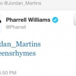 Pharrell-Tweet-to-Jordan Martins + Screens And Rhymes
